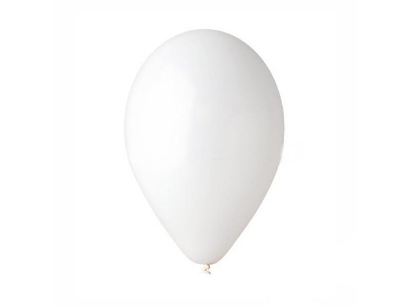 """Шары воздушные пастель белый 8""""(21 см) 100шт."""