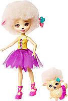 Кукла Enchantimals балерина, барашка Лорна Лэмб и ее питомец Флег, отрезаны от набора