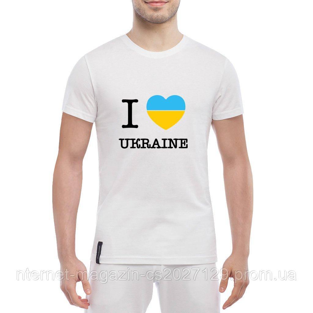 """Белая футболка """"Я люблю Украину"""" - I love Ukraine"""