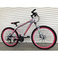 """Велосипед 26 дюймов алюминиевый TOPRIDER """"424""""- розовый"""
