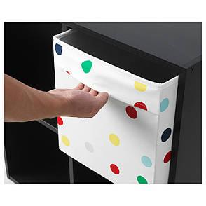 ДРЁНА Ящик, белый, разноцветные точки, 33x38x33 см, 60399515, IKEA, ИКЕА, DRONA, фото 2