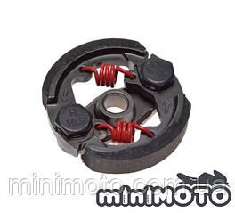 Сцепление TUNNING 2 колодочное (без шпонки) красные пружинки минимото, детский квадроцикл