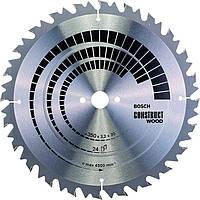 Пильный диск Bosch Construct Wood 350×3,2×30 мм, 24 ATB (2608640702)