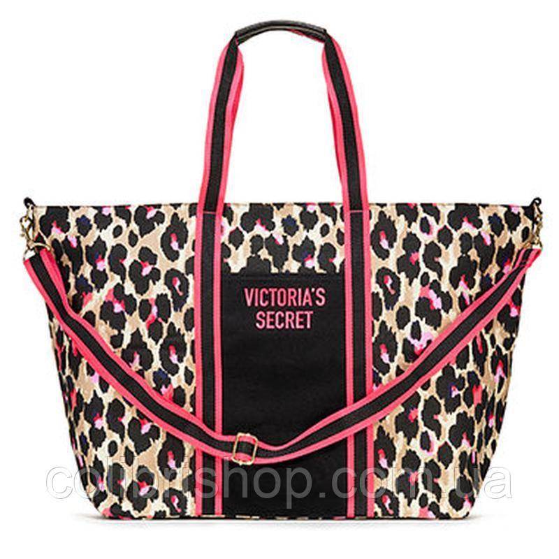 52a9228afab7 Стильная сумка в леопардовый принт Tote от Victoria's Secret - Colibri -  Только оригиналы известных брендов