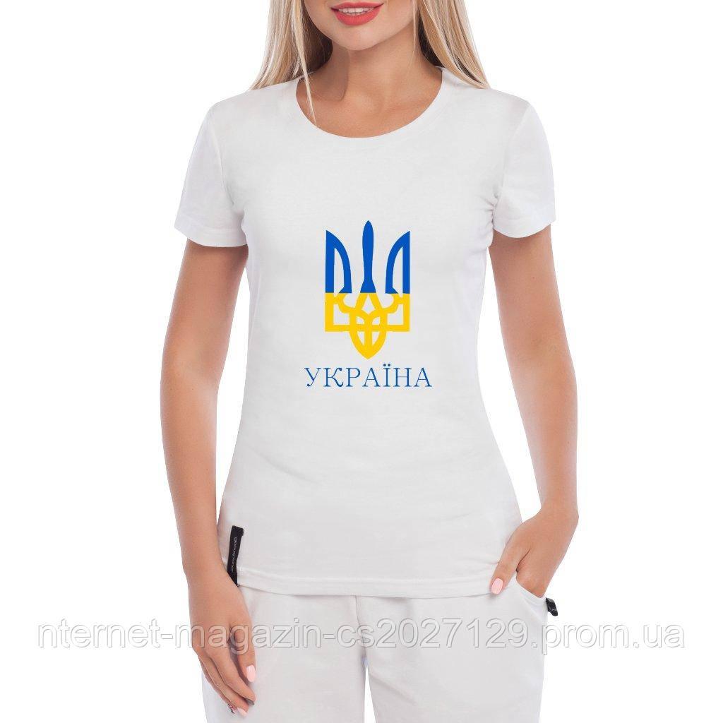 Футболка с Гербом Украины женская