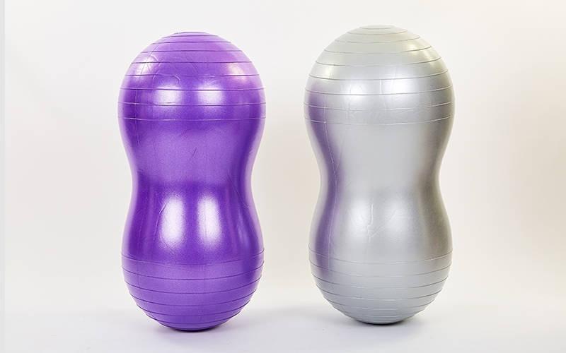 Мяч для фитнеса Арахис (фитбол) сатин 45смх90см FI-7135 (PVC,l-95см,1000г, цвета в ассортименте, ABS-система)Z