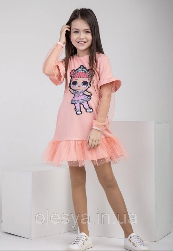 Шикарное детское платье Лола с куколкой LOL Размеры 122- 128  Тренд сезона