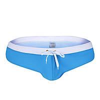 Купальные мужские плавки брифы голубого цвета опт