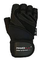 Перчатки PowerPlay для зала КОЖА черные , фото 1
