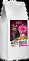 Сухой корм Home Food для взрослых котов с лососем и индейкой на развес