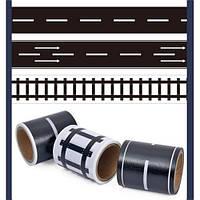 Игровая клейкая лента-дорога с разметкой 3 шт, фото 1