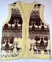 Жилет з овечої шерсті, орнамент олені