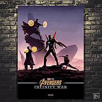 Постер Мстители: Война Бесконечности, Avengers: Infinity War (Группа Железного Человека). Размер 60x42см (A2). Глянцевая бумага