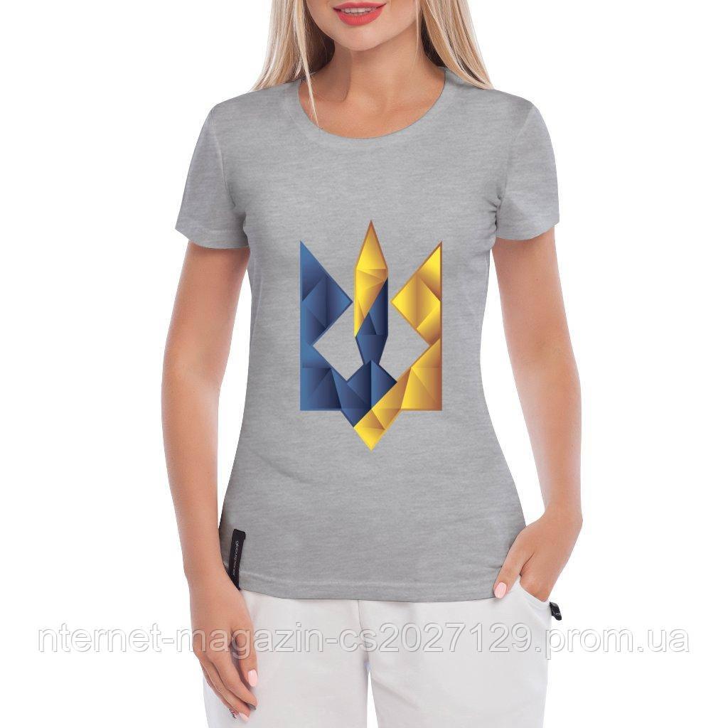 Женская Футболка Герб Украины (цветной тризуб)