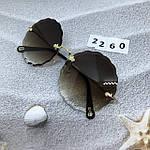 Трендовые круглые солнцезащитные очки  коричневые, фото 5