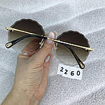 Трендовые круглые солнцезащитные очки  коричневые, фото 6