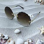 Трендовые круглые солнцезащитные очки  коричневые, фото 4