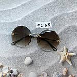 Трендовые круглые солнцезащитные очки  коричневые, фото 7