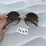 Трендовые круглые солнцезащитные очки  коричневые, фото 8