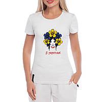 """Патриотическая женская футболка """"Я Українка"""" , фото 1"""