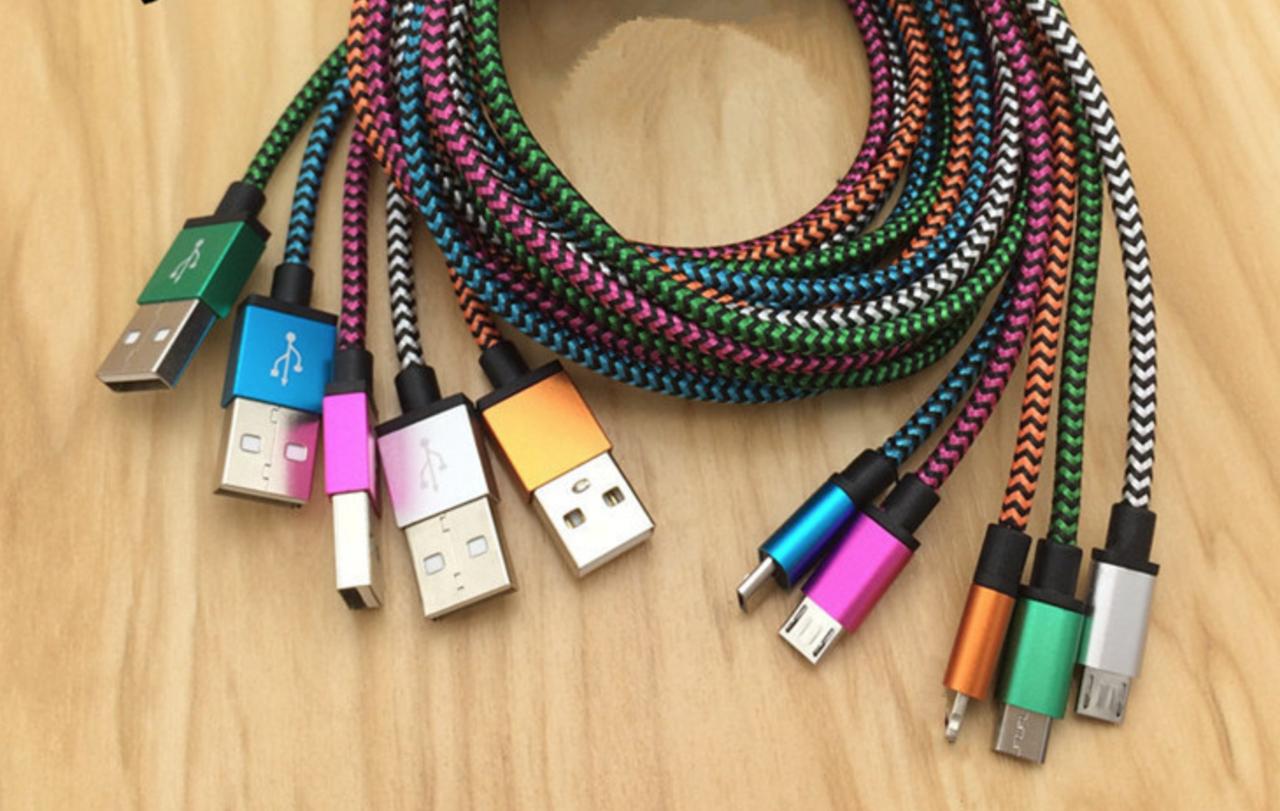 Кабель USB - USB Type C, в тканевой оплетке, юсб шнур, тайп си