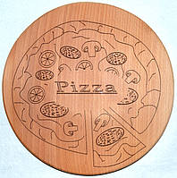 Дерев'яна дошка для піци Ø 28