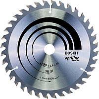 Пильный диск по дереву Bosch Optiline Wood 190 мм 36 зубов (2608640613)