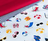 """Лоскут ткани  """"Пляж"""" на белом фоне №1416, фото 3"""