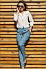 Джинсовые облегченные брюки Радмила 48-60рр, фото 5