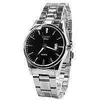 ✓Мужские часы SWIDU SWI-021 Silver + Black Waterproof наручные влагозащищенные кварцевый механизм для мужчин