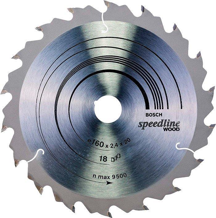 Пильный диск по дереву Bosch Speedline Wood 160 мм 18 зубов (2608640787)