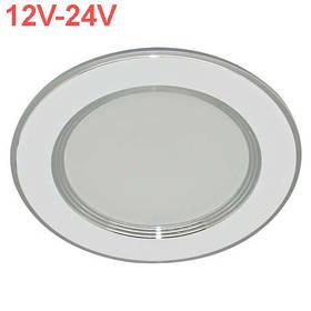 Светодиодная панель ZL 2006 18W 12-24V 4500K кругл. белый/хром  Код.59519