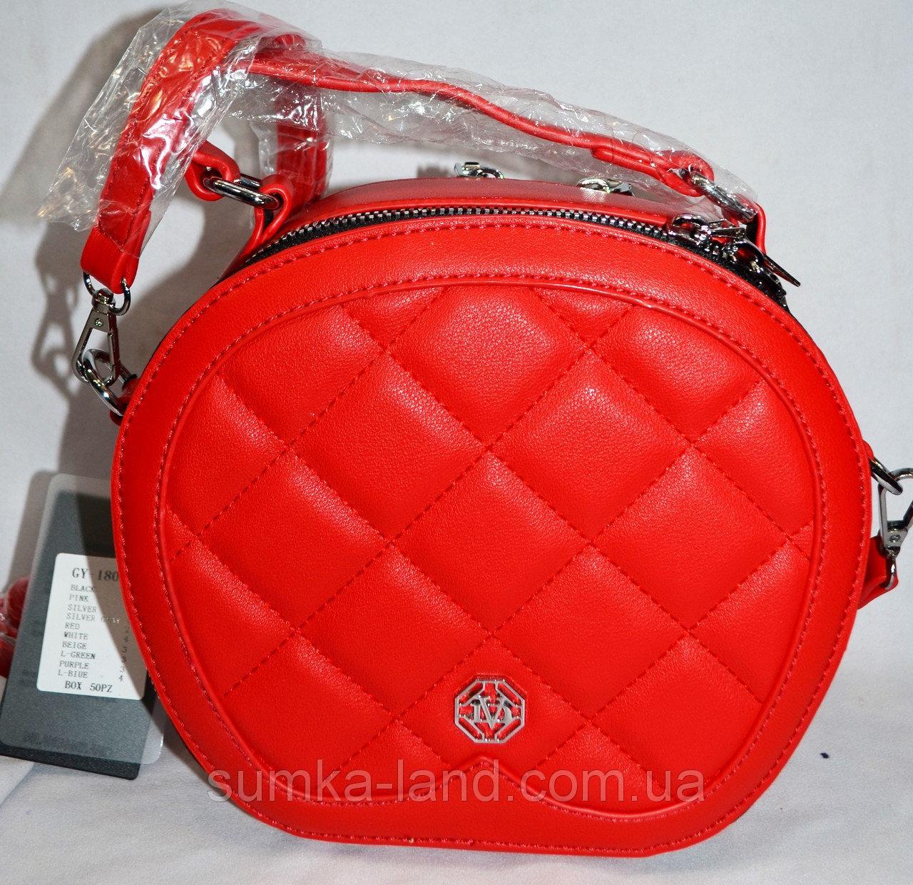 fd3631a86b78 Женская Сумочка круглая клатч кож.зам через плечо. Красный: продажа ...