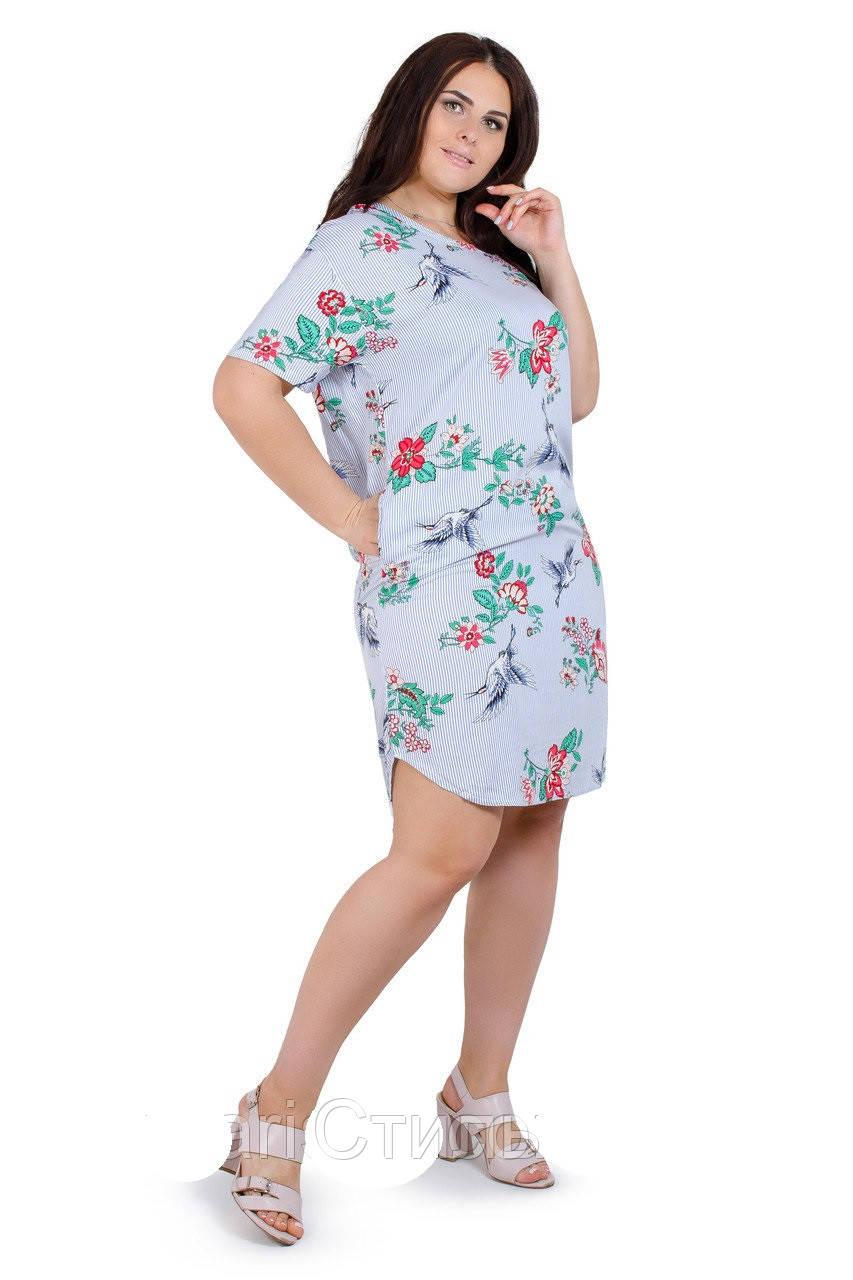 e4fd9c25ae4 Нарядное женское платье летнее полосатое с цветами - Стиль в Харькове