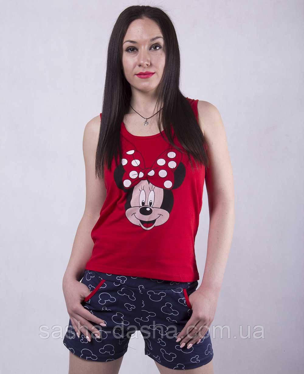 """Летняя пижама, майка и шорты женские """"Disney"""""""