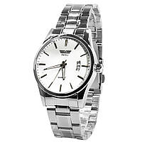 Наручные часы SWIDU SWI-021 Silver + White стальной корпус нержавейка мужские кварцевые