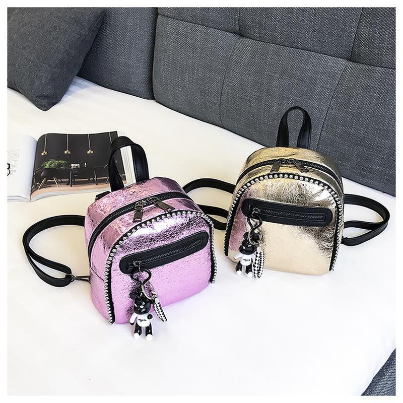 5376cf0f4fdd Женский рюкзак мини с брелком Микки - Sion Lux – Рюкзаки и сумки в Киеве