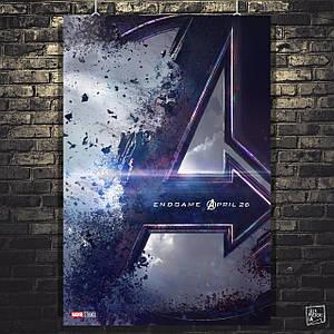 Постер Мстители: Финал, Avengers: Endgame (лого). Размер 60x41см (A2). Глянцевая бумага