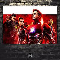 "Постер ""Мстители: Война Бесконечности. Тони Старк"". Avengers. Размер 60x43см (A2). Глянцевая бумага"