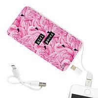 Повербанк ZiZ «Фламинго» 5000 mAh   Power Bank с рисунком, Внешний аккумулятор (44033)