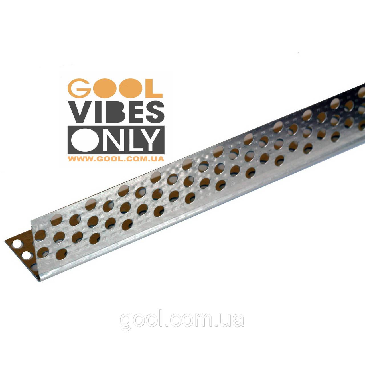 Уголок алюминиевый перфорированный малярный размер 30х30 мм. толщина 0,4 мм. длина 3 м.п. (Польша)