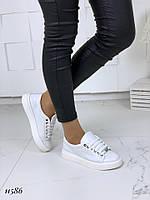 Кеды женские кожаные белые , фото 1