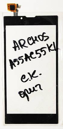 Сенсор (тачскрін ) для Archos A55AC55KL чорний, фото 2