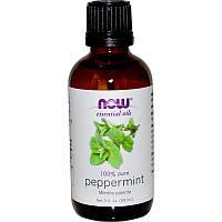 """Эфирное масло перечной мяты NOW Foods, Essential Oils """"Peppermint"""" чистое (59 мл)"""