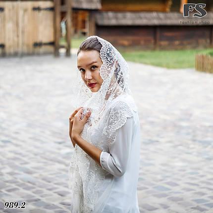 Свадебный шарф Камила (айвори жемчуг ), фото 2