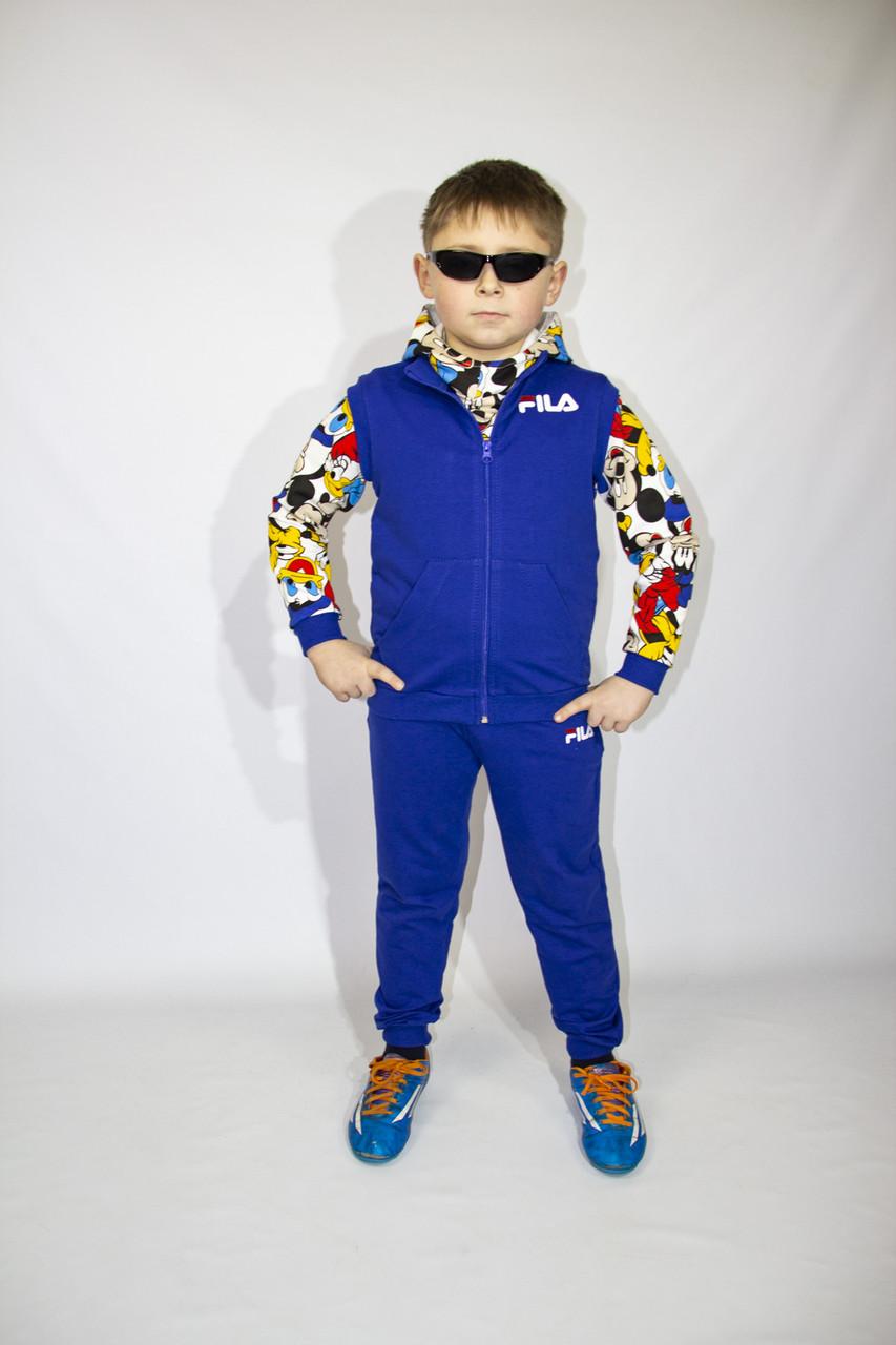 6d76c6ef2 Детский спортивный костюм-тройка Fila для мальчиков дошкольного возраста -  Оптовый интернет-магазин