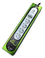 Сетевой фильтр с зарядкой USB LDNIO SE4432, фото 1