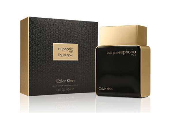 Парфюмированная вода мужская Calvin Klein Euphoria Liquid Gold Men 100ml (копия), фото 2