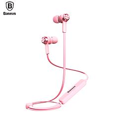 Оригинальные Bluetooth наушники гарнитура Baseus Licolor Magnet B11 White-Silver, фото 3