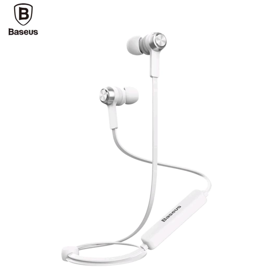 Оригинальные Bluetooth наушники гарнитура Baseus Licolor Magnet B11 White-Silver